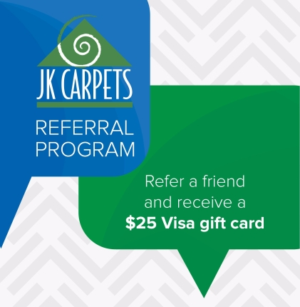 JK Carpets referral program card 2